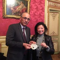 Ambassador of Pakistan to France Moin ul Haque wth Ms. Hauteserre, Mayor of Paris 8th Arrondissement
