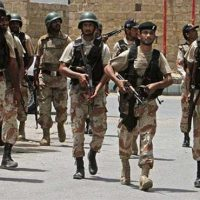 Rangers conduct operation against gang war activists in Karachi's Chakiwara