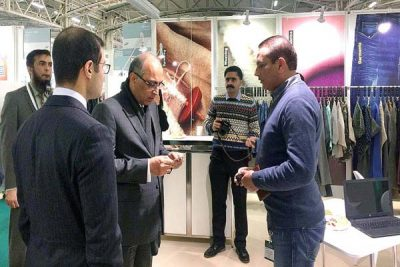 February 06 – The Ambassador of Pakistan to France Moin un Haque is visiting Pakistani pavilion at 3- day 40th edition of Texworld show from 6th to 9th of February.