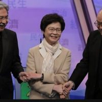 Hong Kong, election:, Beijing-backed, Lam, first, female, leader