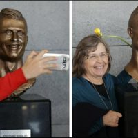 'Bizzare', Cristiano, Ronaldo, statue, mocked, on, social, media