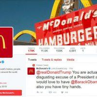 McDonald's, deletes, Trump, tweet, says, Twitter, account, compromised