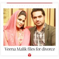 ACTOR, VEENA, MALIK, FILES, PETITION, FOR, DIVORCE, IN, COURT, FROM, ASAD, KHATTALK