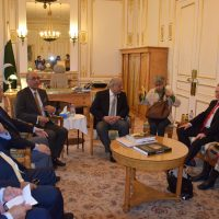 Chairman Senate Mian Raza Rabbani Visit Paris Embassy of Pakistan