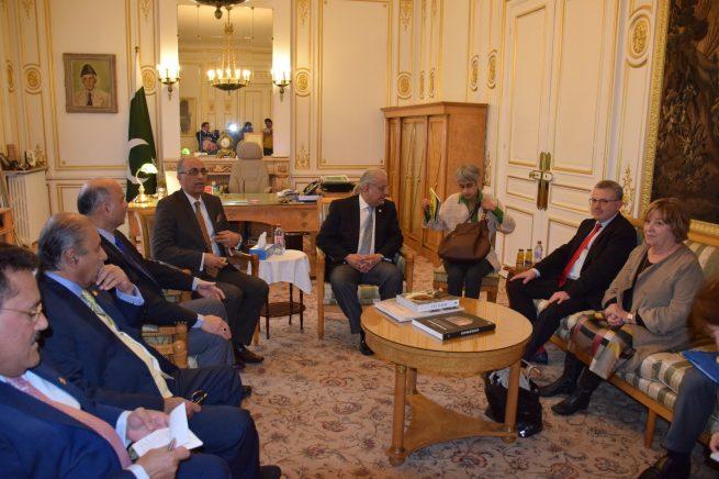 Chairman Senate Mian Raza Rabbani Visit Paris Embassy of Pakistan