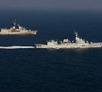Pakistan, Navy, warships, conduct, exercises, with, Sri Lankan, Navy, during, port, visit
