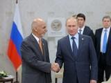 President of the Russian Federation Vladimir Putin meets with President of the Islamic Republic of Afghanistan. PHOTO: AFP/FILE