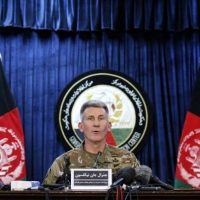 Gen. John W. Nicholson Jr. at a press conference in Kabul last week.