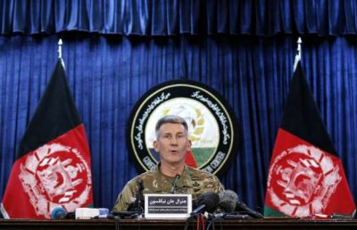 Gen. John W. Nicholson Jr. at a press conference in Kabul last week.