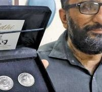SBP, unveils, Rs50, coin, to, honour, Edhi