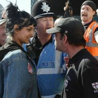Saffiyah Khan at the EDL protest. PHOTO: TWITTER