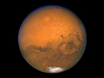The planet Mars. PHOTO: AFP