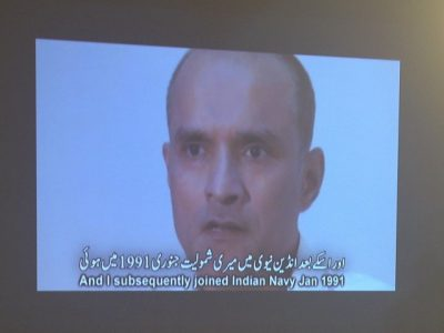 Video shows Kulbhushan Yadav, a serving Indian Navy officer who is suspected of being an Indian spy, during a press conference in Islamabad on March 29, 2016. PHOTO: AFP