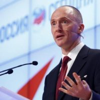 One-time advisor of U.S. president-elect Donald Trump Carter Page addresses the audience during a presentation in Moscow, Russia. PHOTO: REUTERS