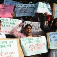 People protest in India against gang rape