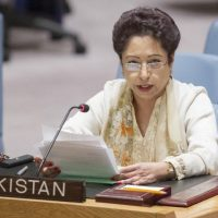 Ambassador Maleeha Lodhi says the best way to eliminate such violence is to prevent and resolve conflicts. PHOTO: INP/FILE