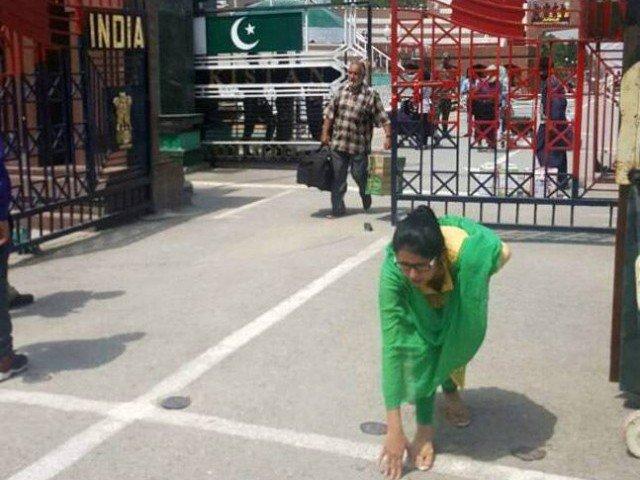 Uzma reaches back to India. PHOTO COURTESY: TIME OF INDIA