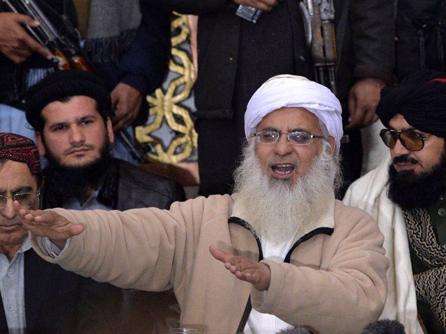 Authorities had recently stopped the firebrand cleric and the Shuhada Foundation from holding events at Lal Masjid. PHOTO: AFP/File