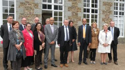 Ambassador of Pakistan and French Senator during a visit to Calvados region of France
