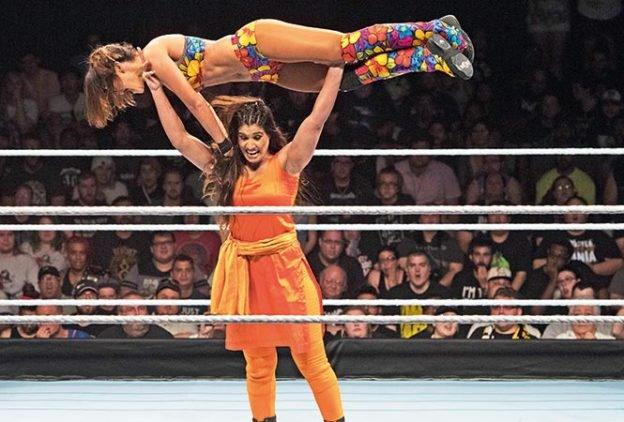 India's, first, female, WWE, wrestler, fights, wearing, shalwar, kameez