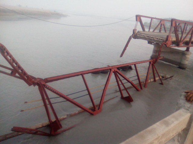 One, dead, as, British-era, bridge, collapses, in, Charsadda