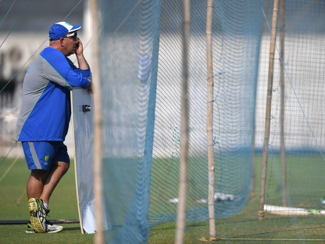 SPLIT IT IN HALF: Lehmann, who has coached Australia since 2013, said he would favour splitting duties between Tests and limited-overs, rather than having three coaches for the game's different formats. PHOTO: AFP
