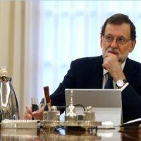 Spain´s Prime Minister Mariano Rajoy attends a cabinet meeting at the Moncloa Palace in Madrid, REUTERS