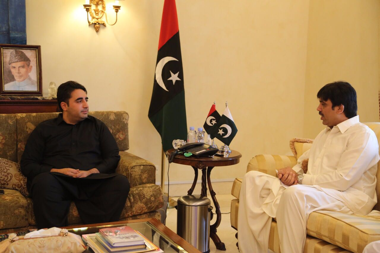 Provincial Minister for Works and Services Imdad Ali Pitafi called on Chairman PPP Bilawal Bhutto Zardari