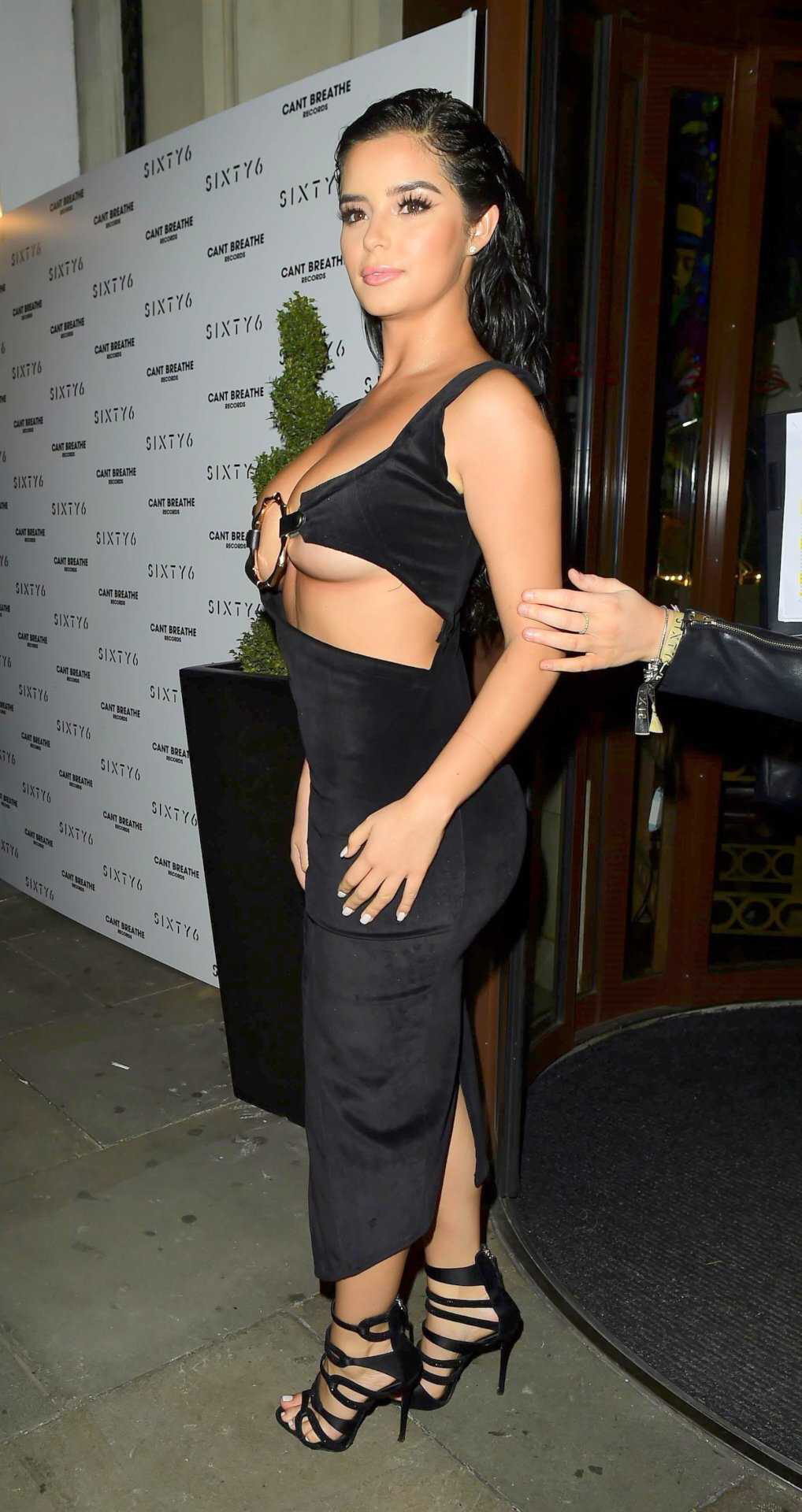 Demi, Rose, photo, shoot, in, Black, at, SIXTY6, Magazine, Launch, in, London,