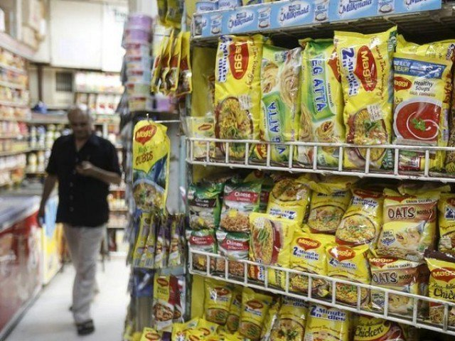 File Photo: Packets of Nestle's Maggi instant noodles are seen on display at a grocery store in Mumbai, India, June 4, 2015. PHOTO: REUTERS