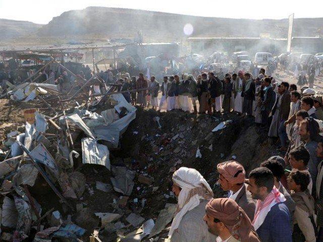 The site of an air strike in the northwesterncityof Saada, Yemen. PHOTO: REUTERS