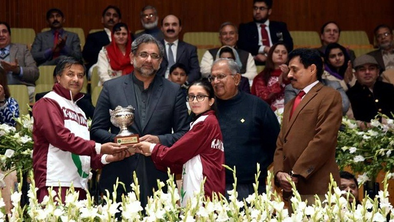 Due, to, efforts, of, the, civil,-military, leadership, it, is, now ,possible, to, hold, sports, events, peacefully, PM Abbasi