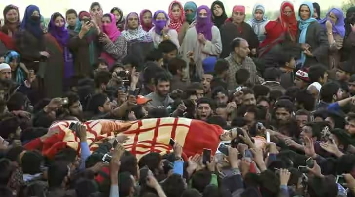 Indian troops continue state terrorism in occupied Kashmir, martyred a three feet tall Kashmiri Noor Mohammad Trantray in Pulwama, body recovered from the debris of a house