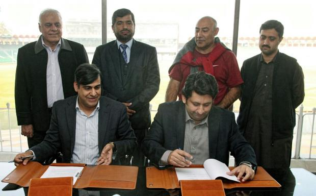 MoU, signed, between ,PCB, and ,KPK ,Sports ,Board