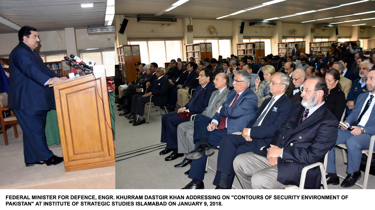 """Public Talkon""""Contours of Security Environment of Pakistan"""" held at Islamabad"""