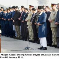 Air Marshal Asghar Khan buried with full military honours in Abbott bad