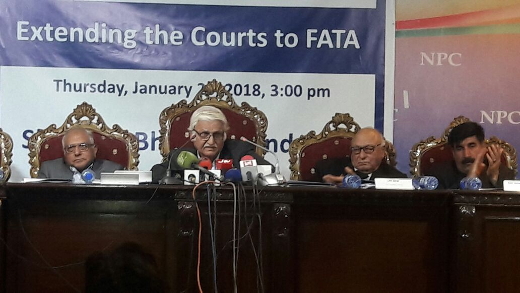 The extension of Courts should not be limited to any specific part of the FATA, Farhat ullah Babar speech at FATA seminar