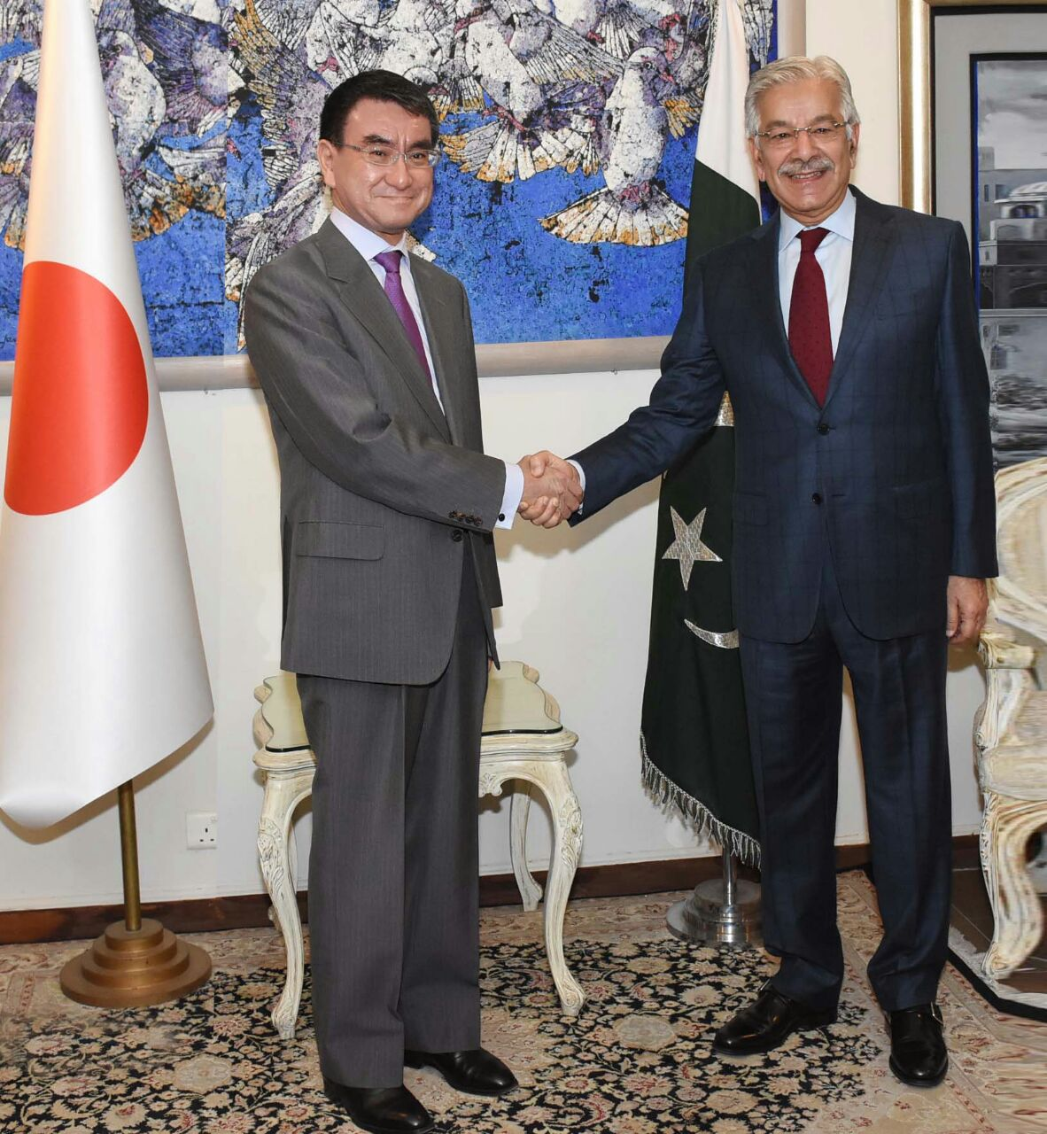 Japanese, F.Minister, appreciate ,Pakistan's ,sacrifices, and ,contributions ,in ,the ,fight, against ,terrorism