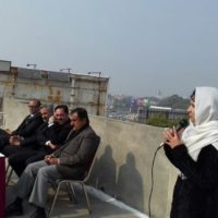 A reception in the honour of Sardar Manzar Bashir candidate for Secratry General High Court Bar Rawalpindi Bench held at District courts Rawalpindi hosted by advocate Miss Farzana Aziz at the roof of Awais Qurnni Block