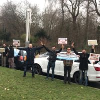 "Pak friendship federation Europe organised "" Mega protest motor rally"" at BRUSSELS"