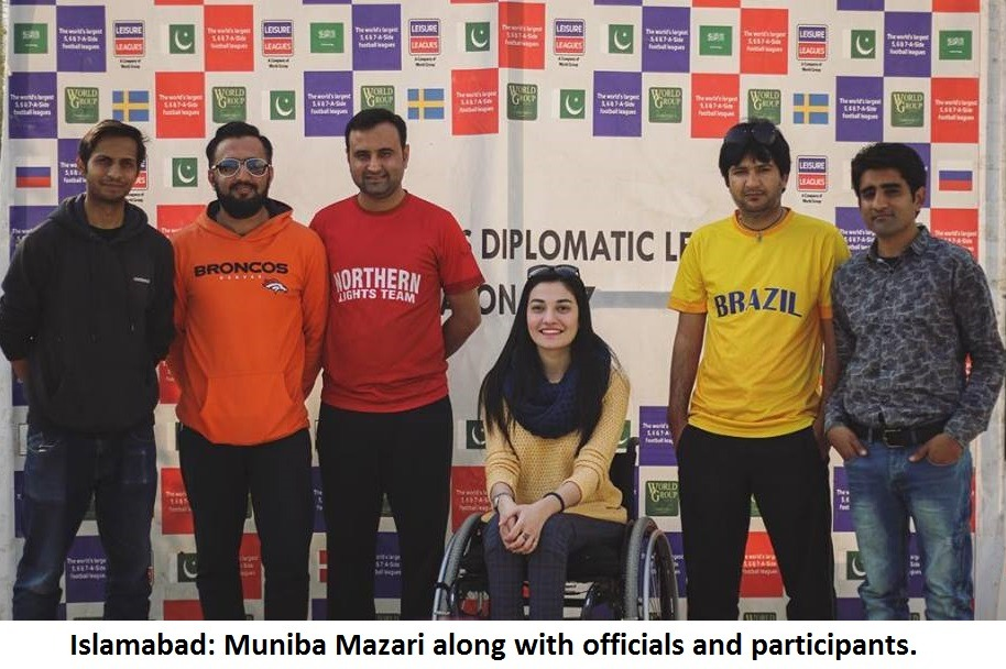 Muniba Mazari's presence adds gloss Leisure Leagues Diplomatic League