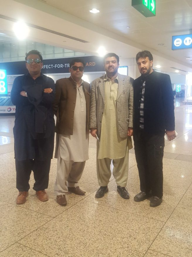 Four members KP Sports Editers and FATA Spirits Writers delegation arrived in Dubai