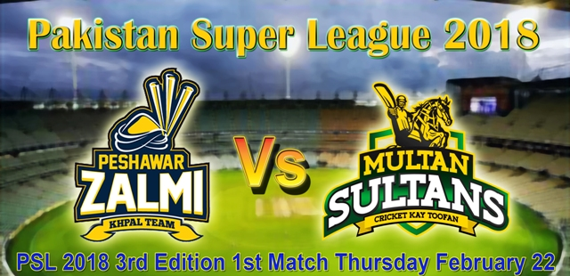 Dubai: 1st PSL 2018 match, Multan Sultans won the toss and elected to bowl