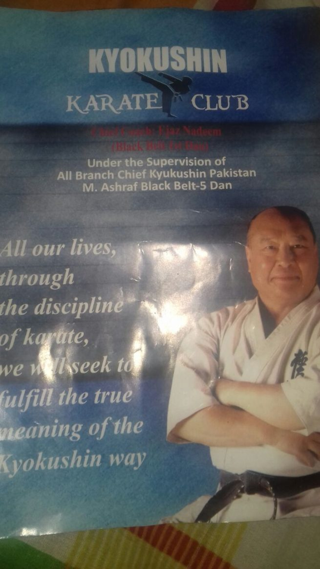 Organizers, & ,Promoters ,Japanese, Martial, Arts, in, Pakistan, join, hand ,for ,promotion ,of ,the, Game, This ,was, decided, by, the ,Shihan Muhammad Ashraf, black belt, 5th,Dan ,Branch, Chief ,Pakistan, Kyukushin ,Karate, the, most ,senior, Martial ,arts, teacher, who, trained, hundreds, Martial, artists ,at, oldest ,Karate ,club, at ,Sadiqabad, Rawalpindi