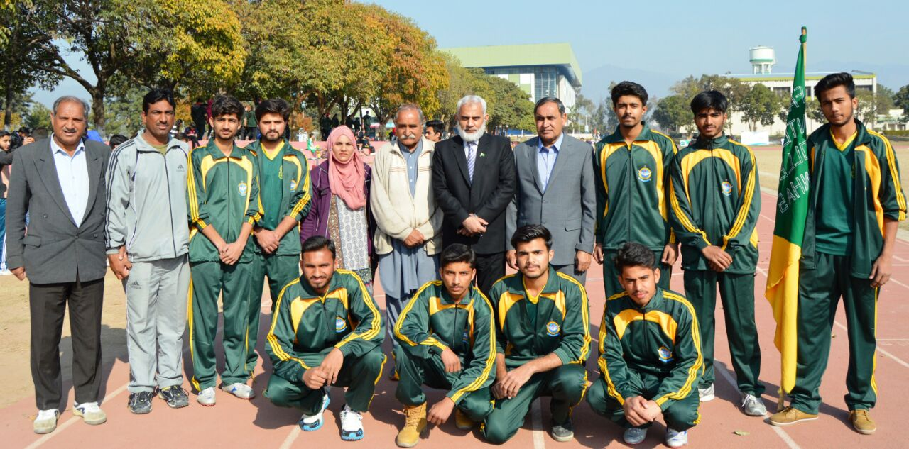 Inter Collegiate Athletics Tournament 2017-18 Inaugural session  organized by Federal Board at sports complex Islamabad yesterday