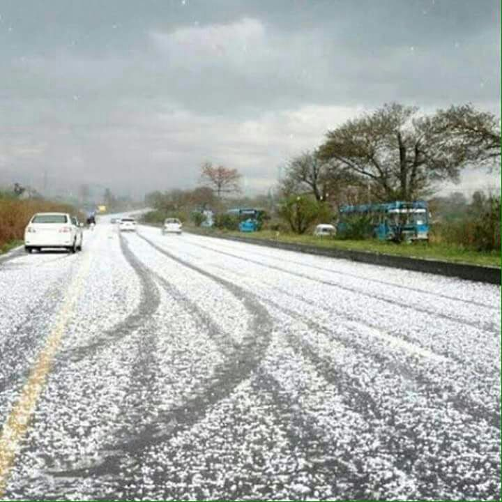 Snow, falling ,at, E-11, sector, Islamabad, on, Monday, Evening