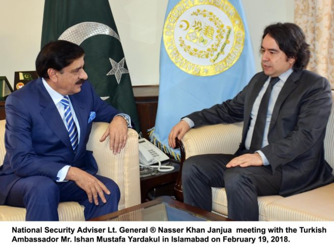 Islamabad, Adviser National Security Gen (R) Nasir Khan Janjua call on ambassador Turkey