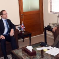Adviser to Prime Minister on Finance, Miftah Ismail received British Prime Minister's Special Representative for Afghanistan and Pakistan
