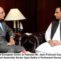 EU, ambassador, meet, speaker, national, assembly, sardar ayaz sadiq
