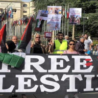 Demo Staged Outside UN To Show Solidarity With Palestinians